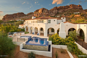 Elegant Perched On The South Slope Of Camelback Mountain, This Romantic Spanish  Colonial Home Was Hand