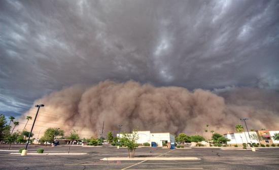 Haboob near Phoenix 2012 / Photographer- Saija Lehtonen