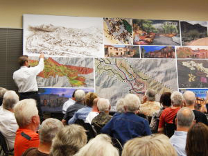 Adero review Jeffrey Denzak with Swaback Partners goes over design concepts for Adero Canyon during the May 1 Town Council meeting.