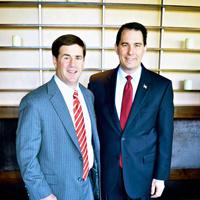 Doug Ducey (left) and Gov. Walker