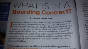 boarding contract