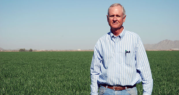 Dan Thelander operates a farm outside the City of Maricopa in Pinal County. If a shortage is declared on the Colorado River, his farm will lose some of its water and have to adjust operations. /Photo by Rachel Leingang/Arizona Capitol Times, with permission