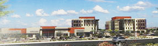 An artist's rendering of the planned Westgate Healthcare Campus off 99th and Glendale avenues.