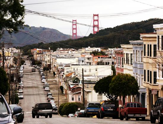 Neighborhood near the San Franciso Bay Bridge