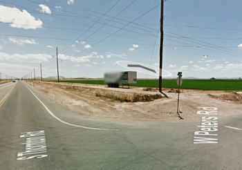 Southwest corner of Thornton and Peters roads/Google Maps