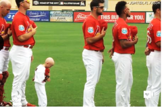 This baseball fan stands 3 feet tall and weighs just 19 pounds. Josiah Viera is a young Cardinals fan diagnosed with the rare aging disease Progeria. But that doesn't stop him from motivating his favorite baseball players during spring training.
