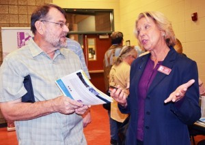 Stan Tomkiewicz of Queen Creek drove to Apache Junction to attend the March 23 meeting where State Land Trust Commissioner Lisa Atkins discussed land management. /Independent Newspapers/Wendy Miller