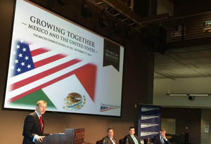 Photo from a forum in Phoenix on U.S.-Mexico relations./Jude Joffe-Block