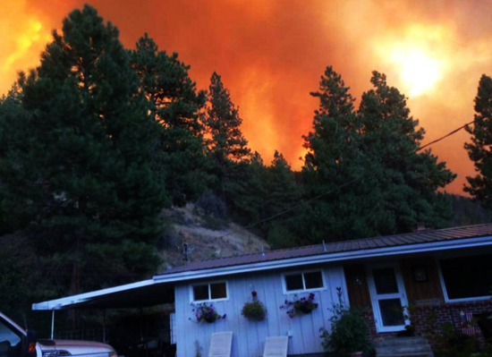Dean Fox snapped a photo of his home before it was consumed Friday, Aug. 14, 2015, by the Canyon Creek Complex fire near John Day.
