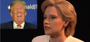Kate McKinnon as Hillary Clinton on SNL.