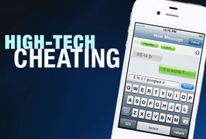 Nearly one -third of U S  teens use electronics to cheat