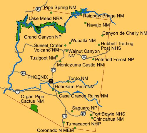 National Parks Arizona Map.Arizona Residents Respond To Zinke S Public Lands Recommendations