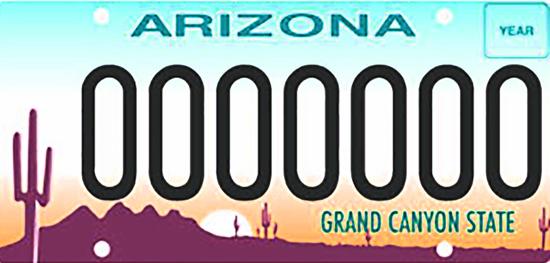 Photo courtesy Arizona Motor Vehicle Division