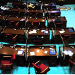 House lacks quorum to debate budget as Dems boycott, 4 Republicans aren't in chambers
